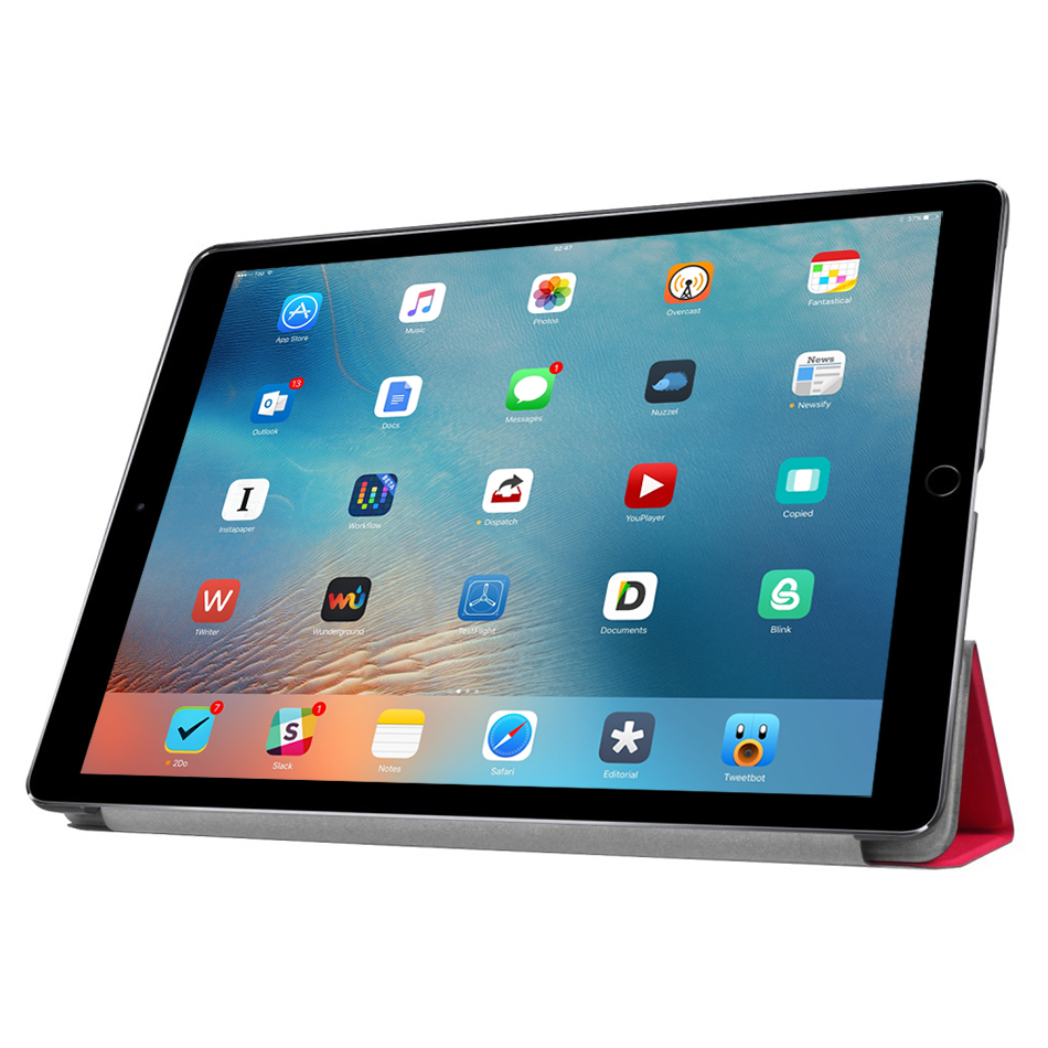 trifold smart case stand apple ipad pro 12 9 inch red. Black Bedroom Furniture Sets. Home Design Ideas