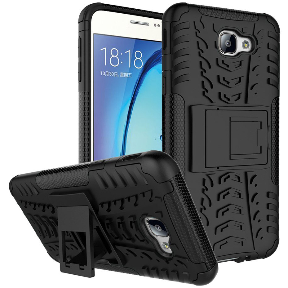 Rugged Tough Shockproof Case For Samsung Galaxy J5 Prime   Black