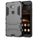 Slim Armour Tough Shockproof Case for Huawei G8 - Silver