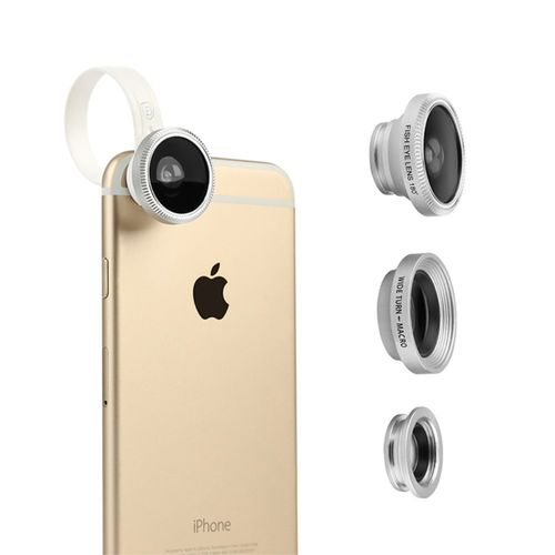 Baseus Clip-on Fisheye & Wide Angle & Macro Camera Lens for Phones