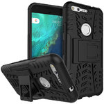 "Dual Layer Rugged Tough Case for Google Pixel XL 5.5"" - Black"