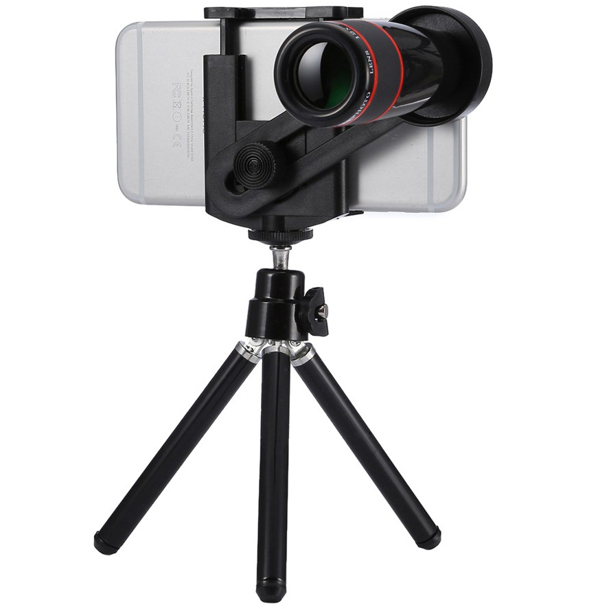 12x Optical Telescope Camera Lens Amp Tripod For Phones