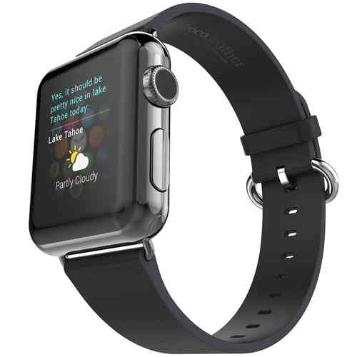 Hoco Pago Genuine Leather Watchband for Apple Watch 42mm - Black