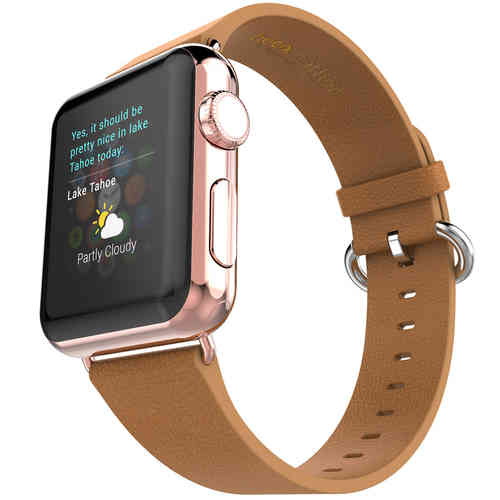 Hoco Pago Genuine Leather Watchband for Apple Watch 42mm - Brown