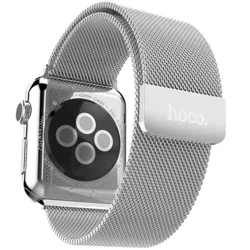 Hoco Milanese Loop Stainless Steel Band for Apple Watch 38mm - Silver