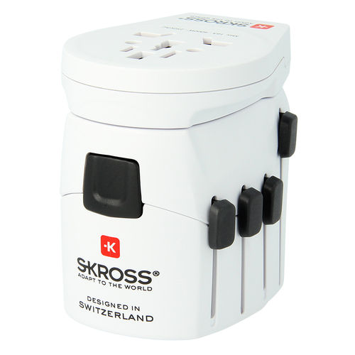 SKROSS PRO 10A World USB Travel Adapter & High Power Charger (3-Pole)