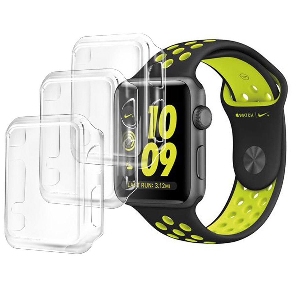 Orzly 3 Pack Invisi Protective Case Apple Watch 38mm