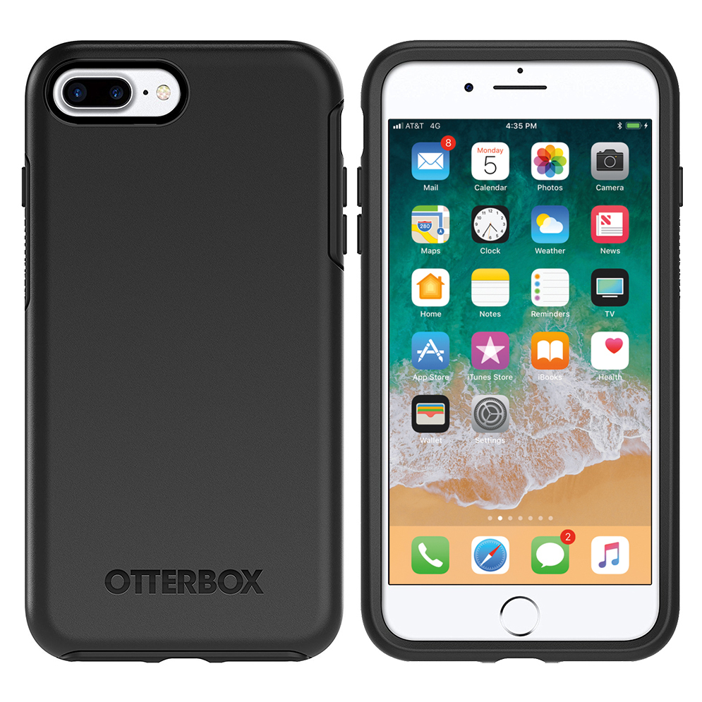 otterbox symmetry case apple iphone 8 plus 7 plus black. Black Bedroom Furniture Sets. Home Design Ideas