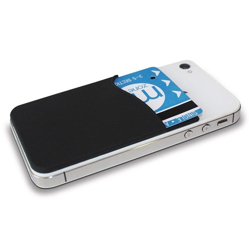 Silicone Smart Wallet Amp Card Holder Mobile Phones Black