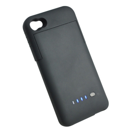 external battery case 1900mah for apple iphone 4s black. Black Bedroom Furniture Sets. Home Design Ideas