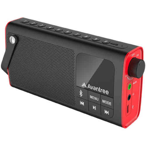Avantree Portable Bluetooth Speaker with FM Radio & Micro SD Card Slot