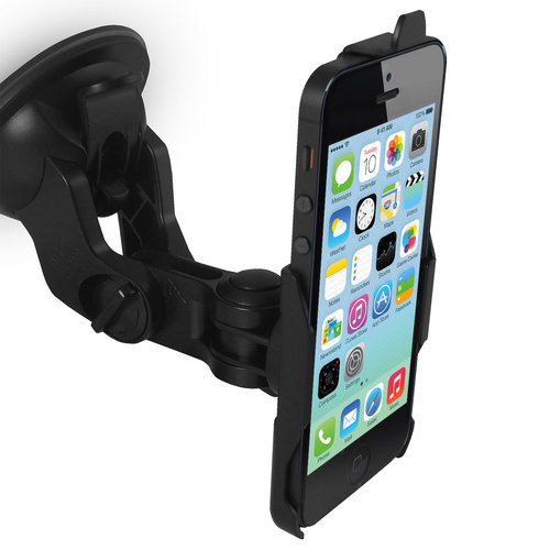 Suction Cup Car Mount Holder for Apple iPhone 5c - Black