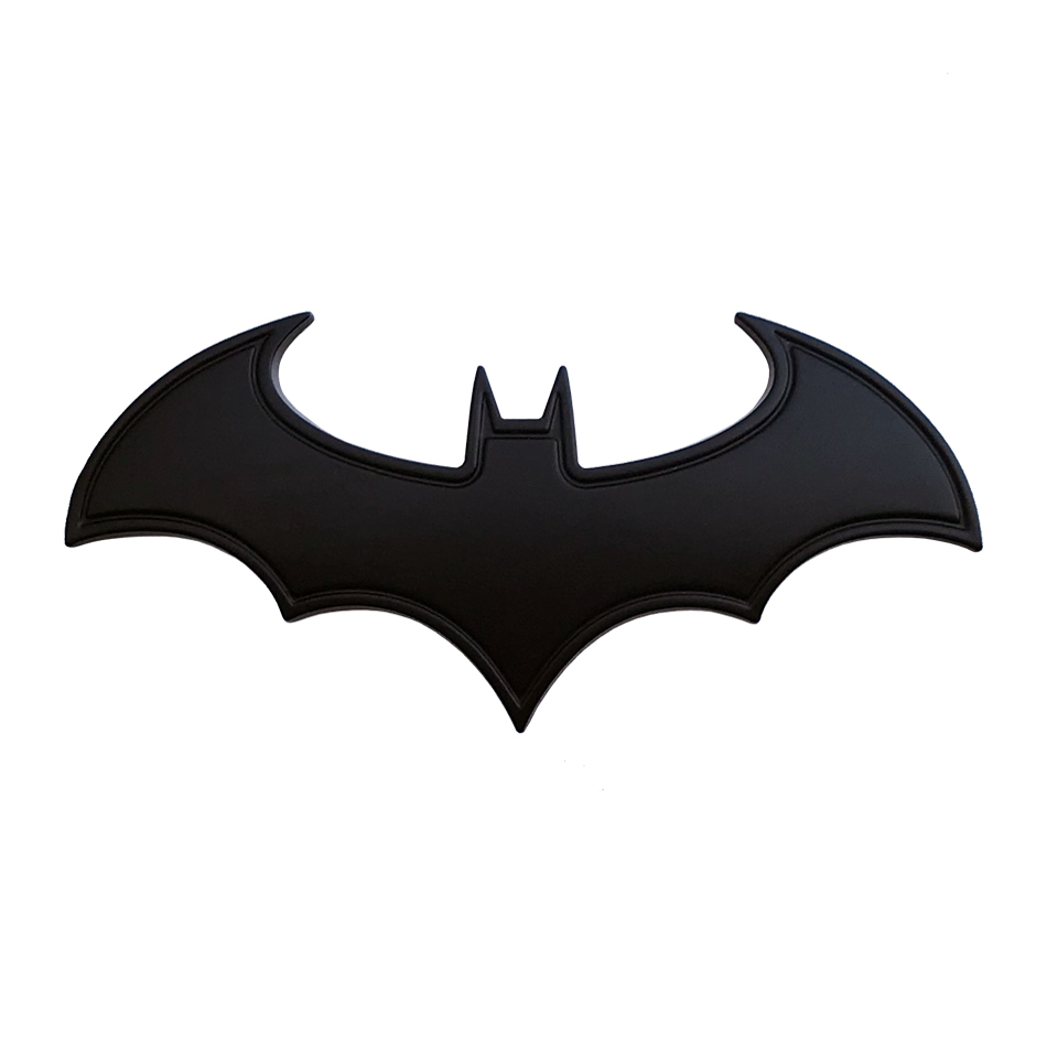 Dark Knight Batman Logo Car Badge Black