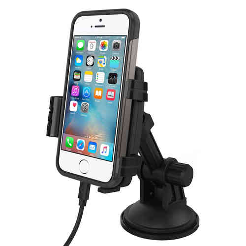 Kidigi Car Mount Cradle Holder & Charger for Apple iPhone SE / 5s / 5
