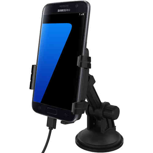 Kidigi Suction Car Mount Cradle Holder & Charger for Samsung Galaxy S7