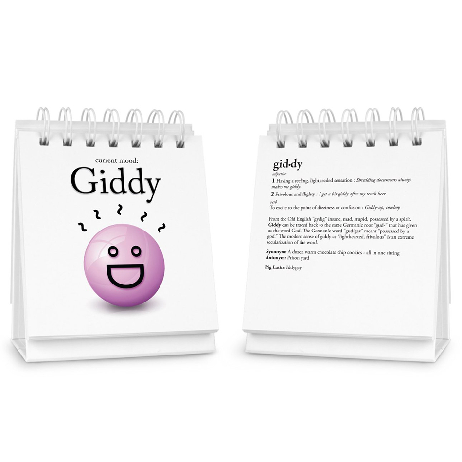 Fred Amp Friends The Daily Mood Spiral Desk Flip Book