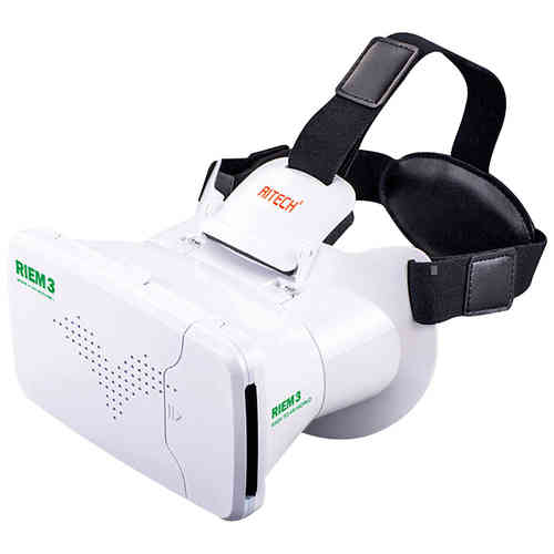 Ritech Riem 3 VR Virtual Reality HD Headset (Bluetooth Remote) - White