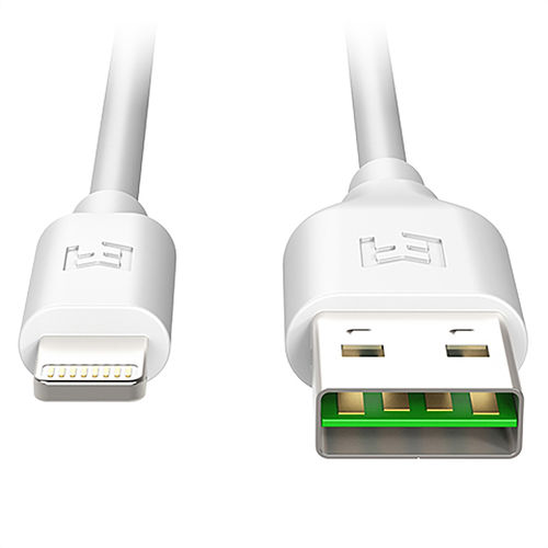 1m EFM Flipper MFi Reversible USB to Lightning Charging Cable - White