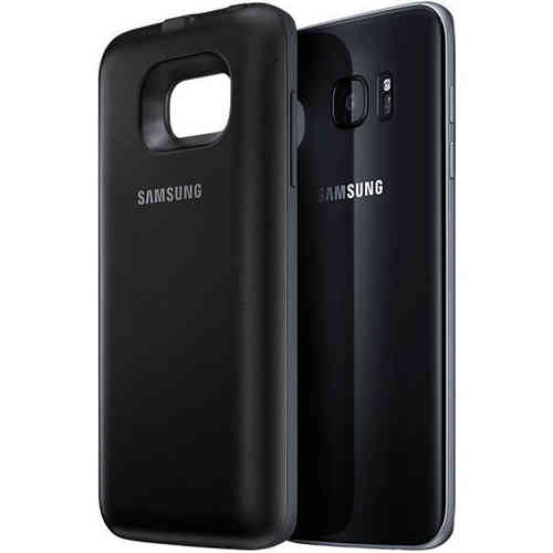 Wireless Battery Back Pack Case - Samsung Galaxy S7 Edge (Black)