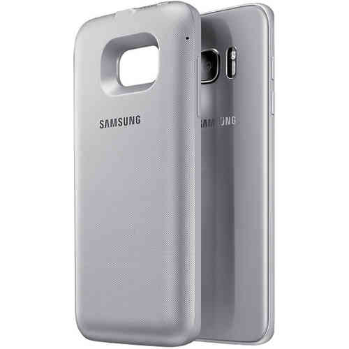 Wireless Battery Back Pack Case - Samsung Galaxy S7 Edge (Silver)