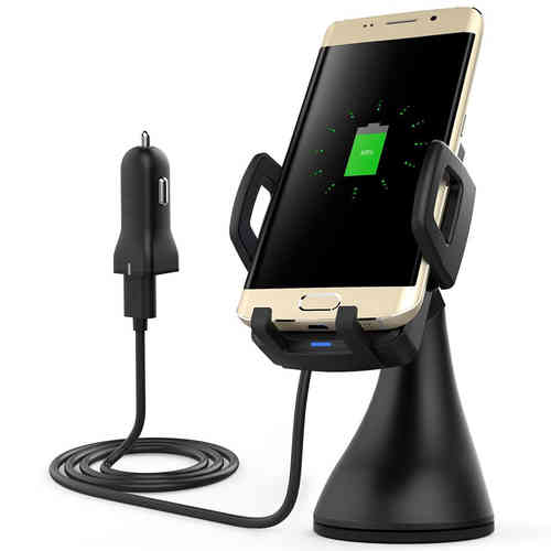 Fast Adaptive Qi Wireless Charging Car Mount Holder Charger for Phones