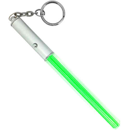 Pocket Lightsaber Keychain with LED Flashlight / Torch - Green Glow
