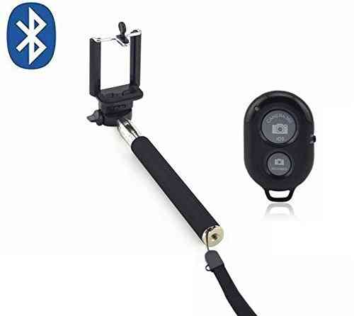 1.1m Extendable Bluetooth Selfie Stick (with Remote Shutter Button)