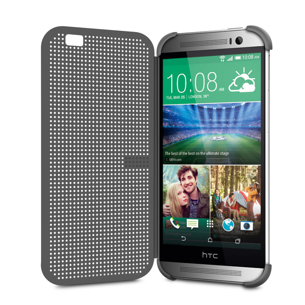 Dot Matrix View Case for HTC One M8 (Grey)