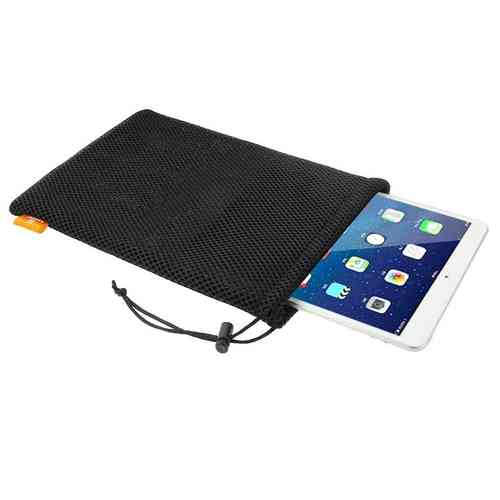 Haweel Nylon Mesh Pouch Travel Bag with Cord for Apple iPad & Tablets