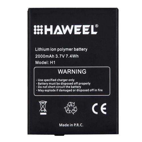 Haweel H1 2000mAh Replacement Rechargeable Li-ion Polymer Battery