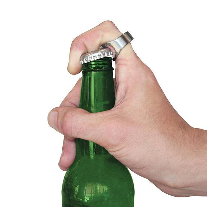 stainless steel beer bottle opener ring party gift. Black Bedroom Furniture Sets. Home Design Ideas