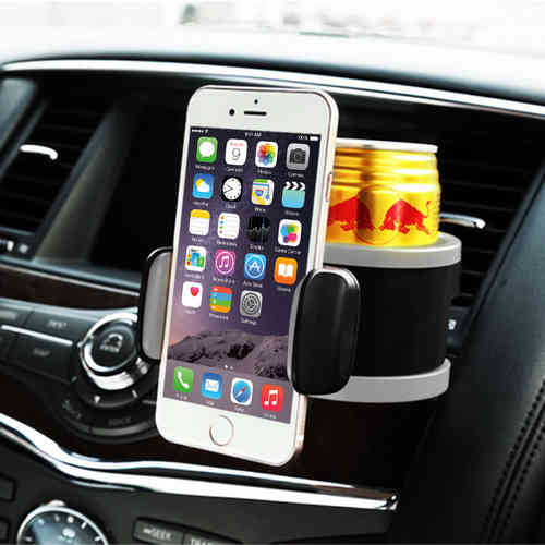 Joyroom Air Vent Car Mount Holder with Drink Cup for Mobile Phones