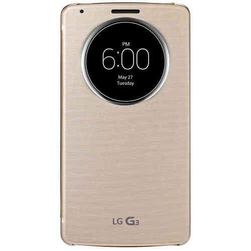QuickCircle Wireless Charging Case for LG G3 - Shine Gold