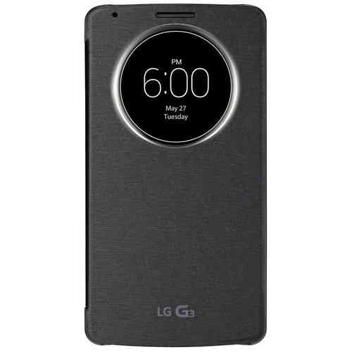 QuickCircle Wireless Charging Case for LG G3 - Metallic Black
