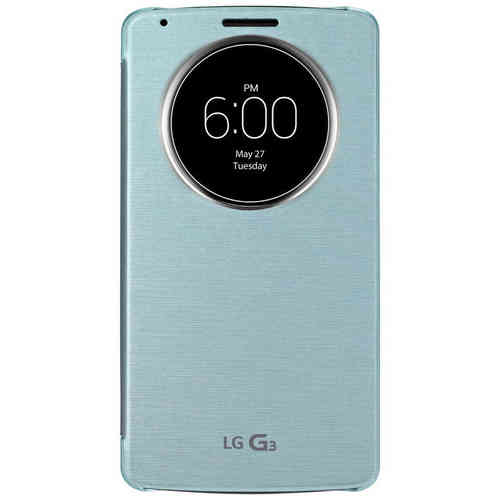 QuickCircle Wireless Charging Case for LG G3 - Aqua Mint