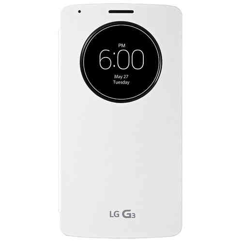 QuickCircle Wireless Charging Case for LG G3 - Silk White