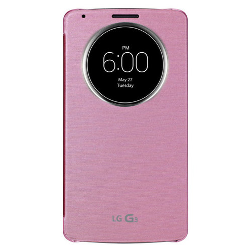 QuickCircle Wireless Charging Case for LG G3 - Pink
