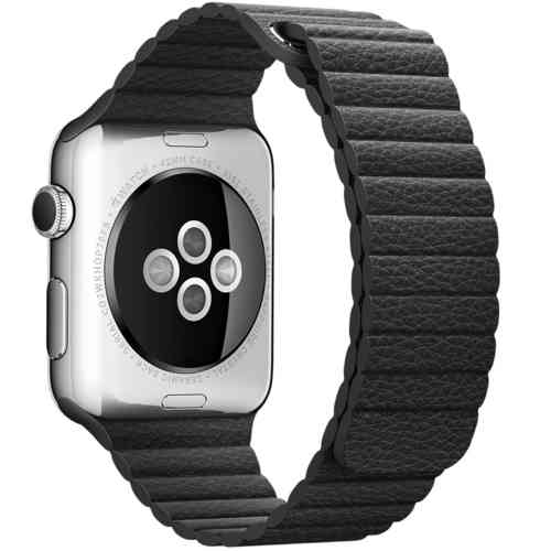 Baseus Leather Loop Band & Magnetic Strap for Apple Watch 42mm - Black