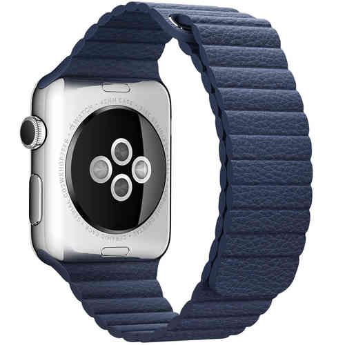 Baseus Leather Loop Band & Magnetic Strap for Apple Watch 42mm - Blue