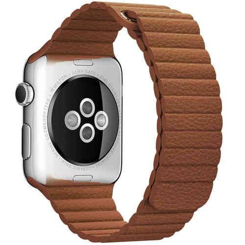 Baseus Leather Loop Band & Magnetic Strap for Apple Watch 42mm - Brown
