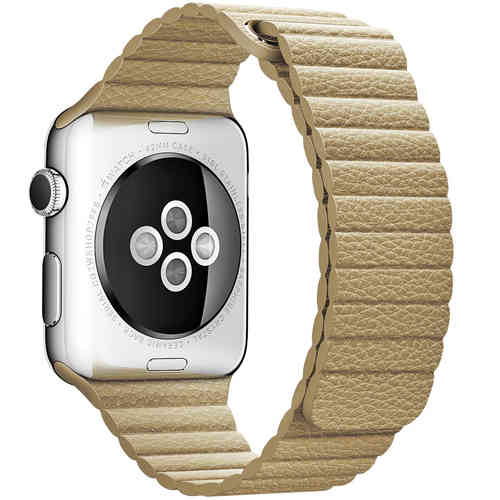Baseus Leather Loop Band & Magnetic Strap for Apple Watch 42mm - Khaki