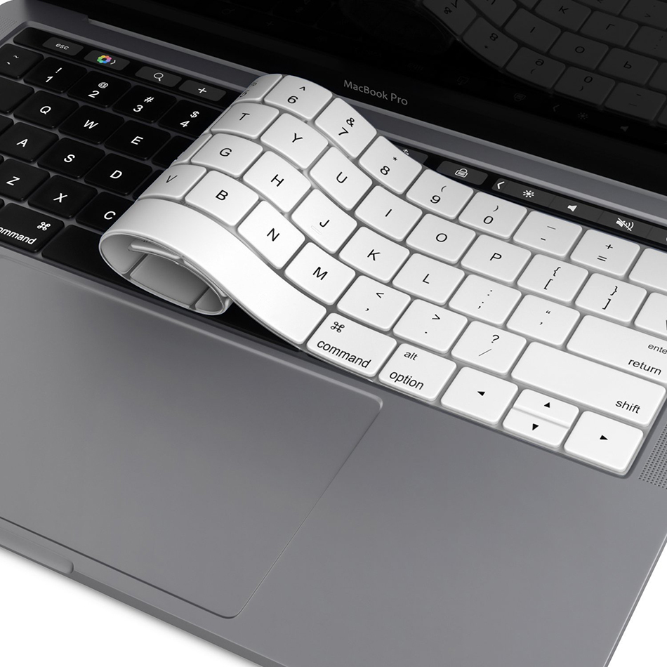 keyboard protector cover apple macbook pro touch bar white. Black Bedroom Furniture Sets. Home Design Ideas