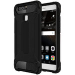 Military Defender Tough Shockproof Case for Huawei P9 - Black