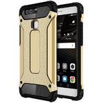 Military Defender Tough Shockproof Case for Huawei P9 - Gold