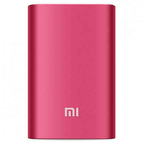 Xiaomi 10000mAh Slim Mobile Power Bank USB Charger - Red