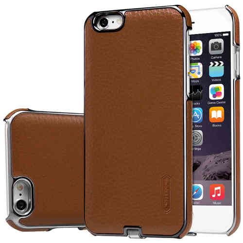 Nillkin N-Jarl Wireless Charging Leather Case for iPhone 6s - Brown