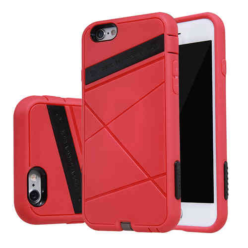Nillkin Shockproof Wireless Charging Case for Apple iPhone 6 / 6s - Red