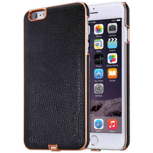 Nillkin N-Jarl Wireless Charging Leather Case - iPhone 6s Plus - Black