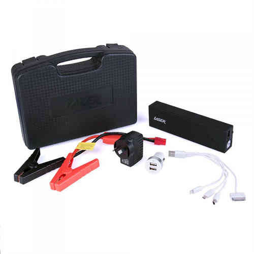 Laser Emergency Power Bank & Car Battery Jump Starter with LED Torch