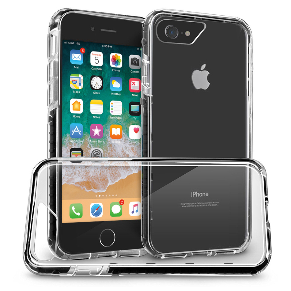 Orzly Fusion Frame Bumper Case Apple Iphone 8 7 Black